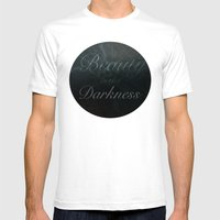 Beauty In The Darkness Mens Fitted Tee White SMALL