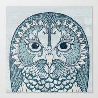 Owlustrations 1 Canvas Print