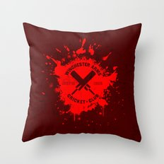 Winchester Arms Cricket Club Throw Pillow