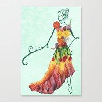 Female Floral Canvas Print