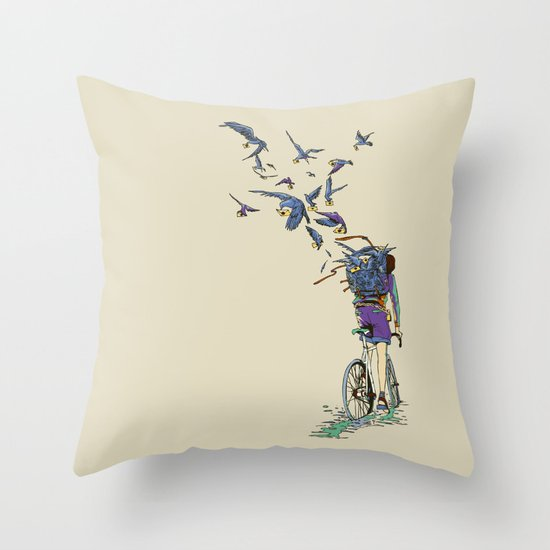TweetJourney Throw Pillow
