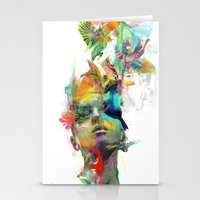 portrait Stationery Cards featuring Dream Theory by Archan Nair