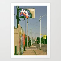 MSK With MSK In The Back Art Print