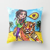 Charmed Tiger Throw Pillow