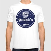 Hound's Ale Mens Fitted Tee White SMALL