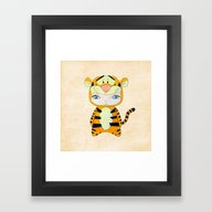 Framed Art Print featuring A Boy - Tigger by Christophe Chiozzi