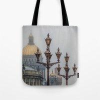 Street lights of Saint Petersburg  Tote Bag