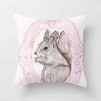 Cameo Squirrel Throw Pillow
