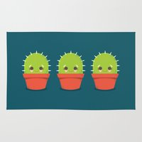 Kawaii Cactus Dude Rug