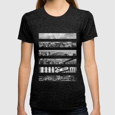 NEW YORK CITY Womens Fitted Tee Tri-Black SMALL