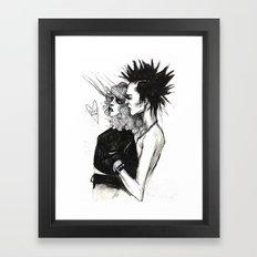 Sid and nancy  Framed Art Print