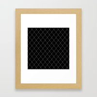 Wire Fence Framed Art Print