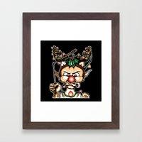 Grumpy Elf (Color) Framed Art Print