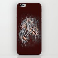DARK ZEBRA iPhone & iPod Skin