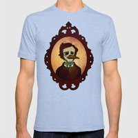 Prophets of Fiction - Edgar Allan Poe /The Raven Mens Fitted Tee Tri-Blue SMALL
