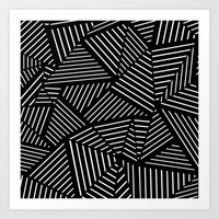 Ab Linear oom Black Art Print