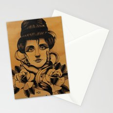 WOMAN and Roses - TATTOO Stationery Cards
