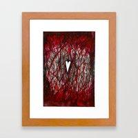 Heart Burn Framed Art Print