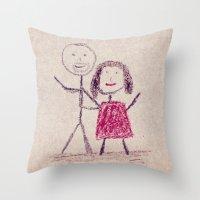 CRAYON LOVE: Boy Meets G… Throw Pillow