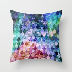 REALLY MERMAID FUNKY Throw Pillow