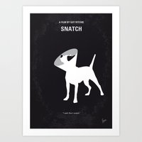 No079 My Snatch minimal movie poster Art Print