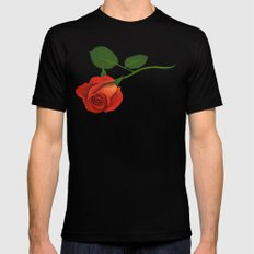 A Rose SMALL Mens Fitted Tee Black