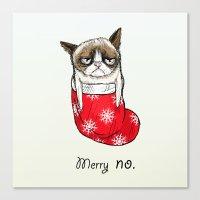 grumpy christmas Canvas Print