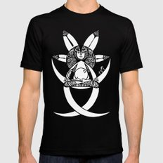 in post-meditation, be a child of illusion Mens Fitted Tee Black SMALL