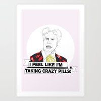 Crazy Pills Art Print
