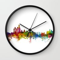 Amsterdam The Netherlands Skyline Wall Clock