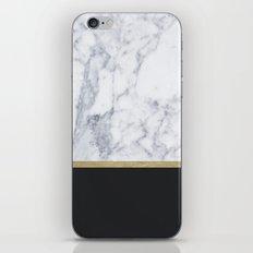 MARBLE GOLD BLACK  iPhone & iPod Skin