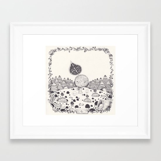 le premier bourgeon Framed Art Print