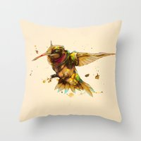 android hummingbird Throw Pillow