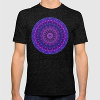 Harmony In Purple Mens Fitted Tee Tri-Black SMALL