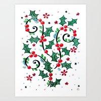 Christmas Curls Art Print