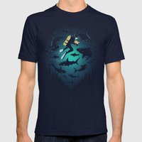 Screwed Mens Fitted Tee Navy SMALL