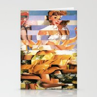 Glitch Pin-Up Redux: Xen… Stationery Cards