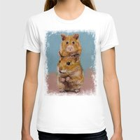 Hamsters Womens Fitted Tee White SMALL