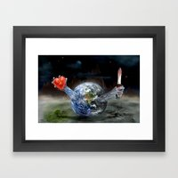 Save our World 17 Framed Art Print