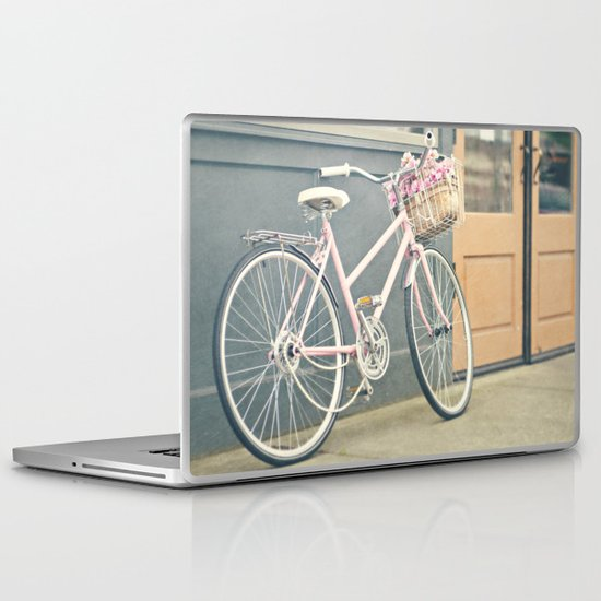 Pink bicycle Laptop & iPad Skin