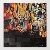 Tiger At Night Canvas Print