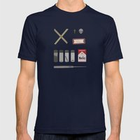 X Files V2 Mens Fitted Tee Navy SMALL
