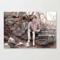 Wading Canvas Print