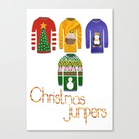 Christmas jumpers  Canvas Print