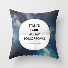 Just One Yesterday Throw Pillow