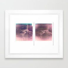 Failed Diptych Bed Framed Art Print