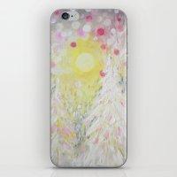 Snowing Pink Polka Dots Sky Lights iPhone & iPod Skin
