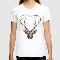 My Deer Love, Womens Fitted Tee White SMALL