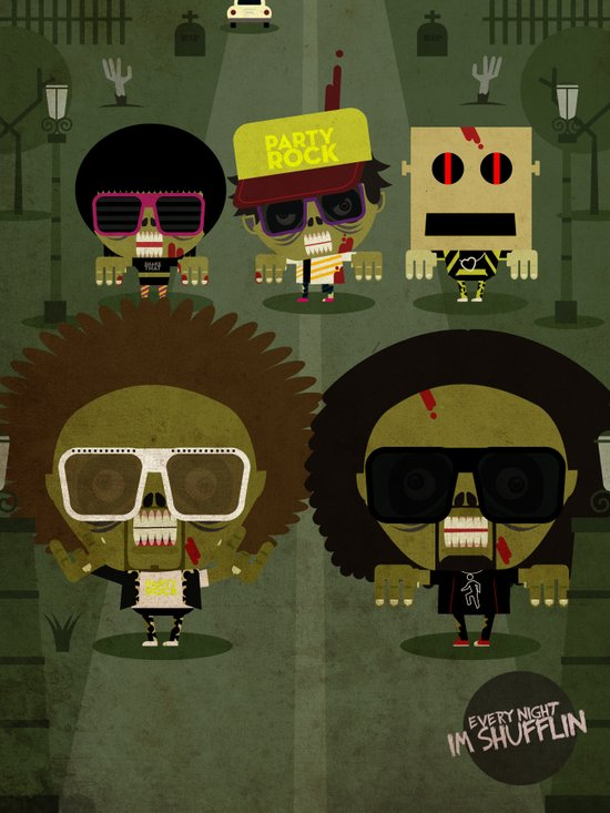 Party zombie rock Art Print