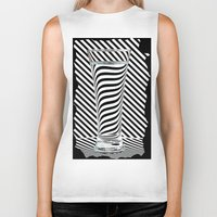 Striped Water Biker Tank
